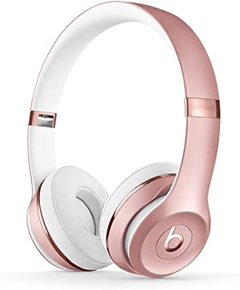 Amazon Com Beats Solo3 Wireless On Ear Headphones Apple W1 Headphone Chip Class 1 Bluetooth 40 Hours Of Listening Time Rose Gold Previous Model