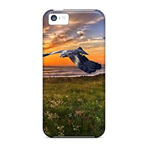 First-class Cases Covers For Iphone 5c Dual Protection Covers Bird Sunset