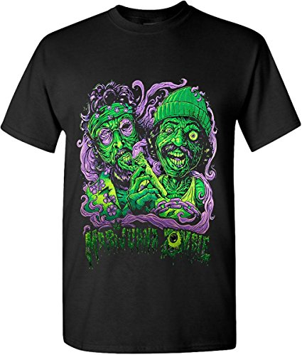 Marijuana Zombie Weed Leaf Graphic T-Shirts 1GMR0040 (2X-Large, Black)