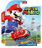 Hot Wheels 1/64 Scale Character Cars Super Mario - Mario Car Vehicle