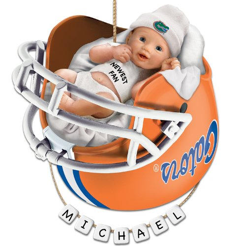 University of Florida Gators Football Personalized Baby's First Ornament by The Bradford Exchange (Ncaa Helmet Tree Ornament)
