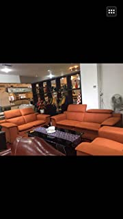 Pure Leather Sofa Set(3+2+1) With HeadRest