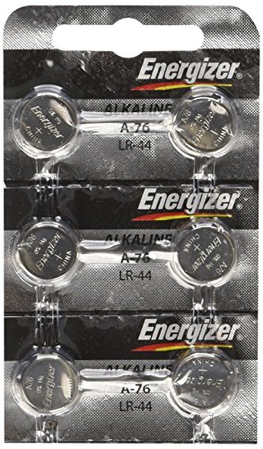 Energizer LR44 1.5V Button Cell Battery x 6 Batteries (Watch Laser Pointer)