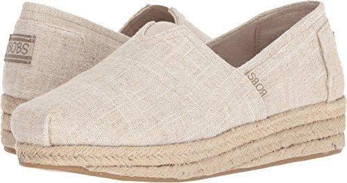 Skechers BOBS Highlights - Sand Sparkle Natural Womens Slip-On Size 7M (Canvas Espadrilles Beige)