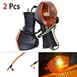 Everrich 2Pcs Motorcycle Turn Signal Lights