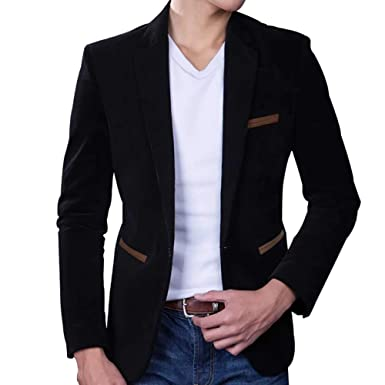 Men S Corduroy Blazer Business Coat Dinner Smart Formal Cotton