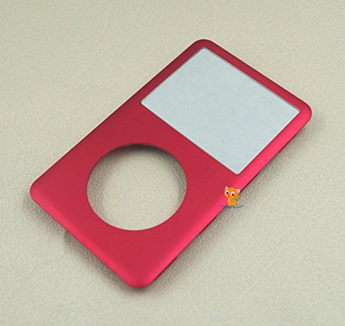 (Red Color Front Faceplate Housing Case Cover Lens for iPod 6th 7th gen Classic 80GB 120GB 160GB)