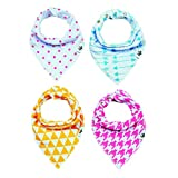 SPECIAL SALE 65% OFF Baby Bandana Bibs, THE ONLY 3 Adjustable Snaps, ShaniNY Baby, 100% Organic Cotton