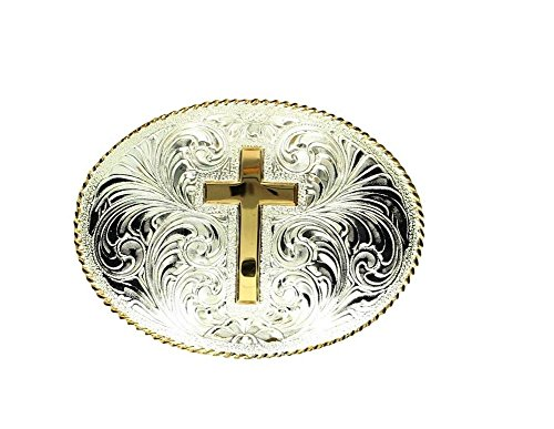Engraved Silver Belt Buckle - 5