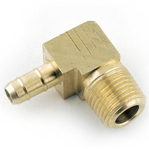 Anderson Metals Corp 1/4X1/8 Brs Barb Elbow (Pack Of 10 Insert Fittings Brass & Steel
