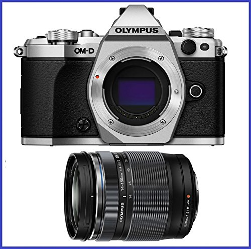 OM-D E-M5 Mark II Mirrorless Micro Four Thirds Digital Camera (Body, Silver) + Olympus M.Zuiko ED 14-150mm f/4-5.6 II Lens (Micro Two Thirds Camera compare prices)