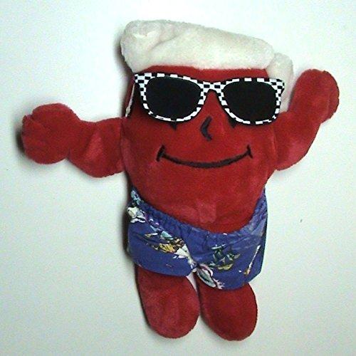 Toys Trudy (Hawaiian Kool-Aid Man Plush Doll with Sunglasses Trudy 1987)
