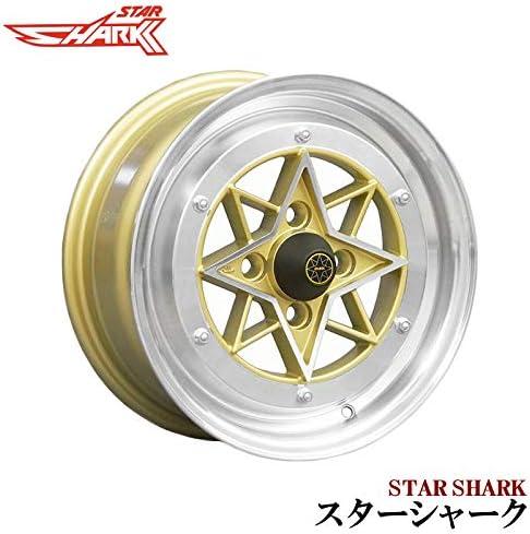 スターシャーク アルミ ホイール 14×6J 38 2本 ゴールド