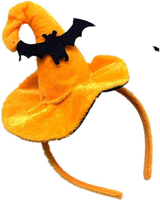 Aeromdale Halloween Calabaza Hechicera Sombrero Diadema Sombrero ...