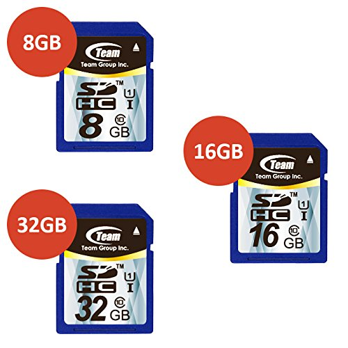 TEAM 32GB Class 10 SDHC UHS-I Memory Card Up to 45MB/s-Packaging May Vary by Team