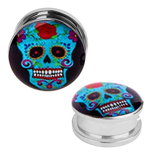 sugar skull plugs 0g - 1