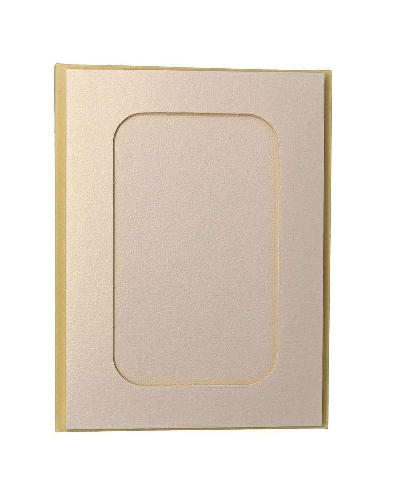 Pack Of 4 Rectangular Aperture A5 Cards White