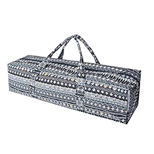 Large-Yoga Mat Duffle-Bag Multi-Functional Patterned Canvas Yoga Mat Tote Bag Carriers for Women