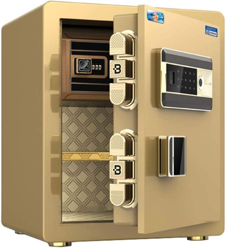 GR Caja Fuerte Caja de Seguridad biométrica con Huella Dactilar y Teclado, Arma Dinero Bloqueo Cajas Fuertes para Efectivo de Pistola en casa, 15 x 12.6 x 17.7 Pulgadas (Color : Gold): Amazon.es: Hogar