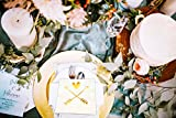 Wedding, Bridal Shower Napkins with Gold Heart and