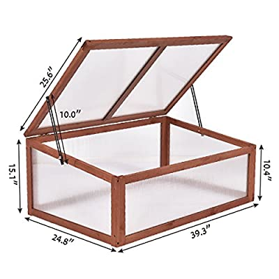 Maximumstore Garden Portable Wooden Green House Cold Frame Raised Plants Bed Protection New by Maximumstore