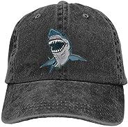 NVJUI JUFOPL Boys' Dangerous Shark Baseball Cap Washed Vintage Funny Dad Hat B