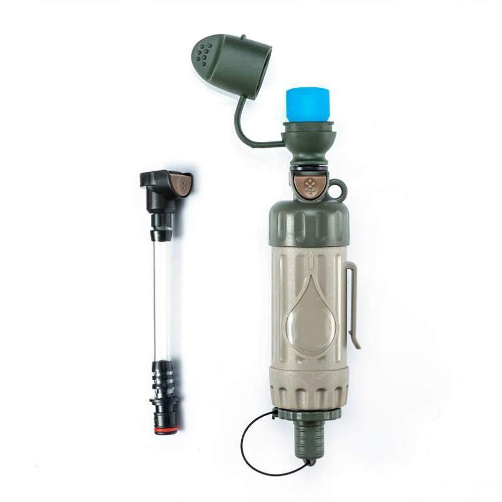 Trinkwasserfilter Für Outdoor – Notfall Wasserfilter Entfernt 99.9% Bakterien & 0.05 Mikron Filter Chemiefrei Survival Camping Zubehör Ausrüstung Zum Überleben Trinkwasseraufbereitung