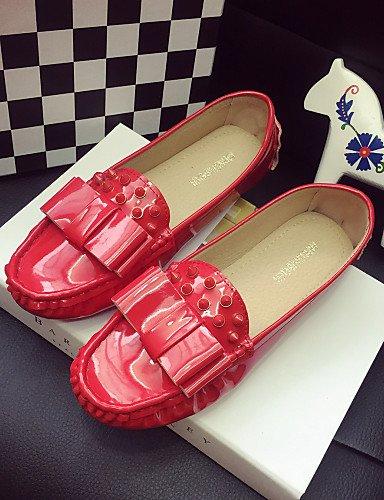Planos de us5 Punta Rojo Semicuero Zapatos eu36 eu39 eu39 cn35 pink 5 uk6 uk3 Rosa Plano cn39 black us8 Casual Tac¨®n uk6 Negro Cerrada pink us8 mujer ZQ cn39 5 qn07S5z
