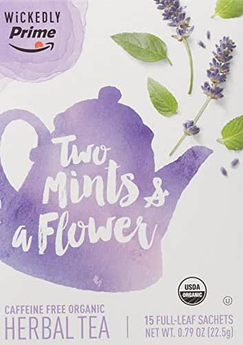 Wickedly Prime Organic Herbal Tea, Two Mints & a Flower, 15 Count
