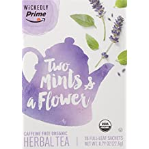 Wickedly Prime Organic Herbal Tea, Two Mints & a Flower Premium Tea Sachets, 15 Count