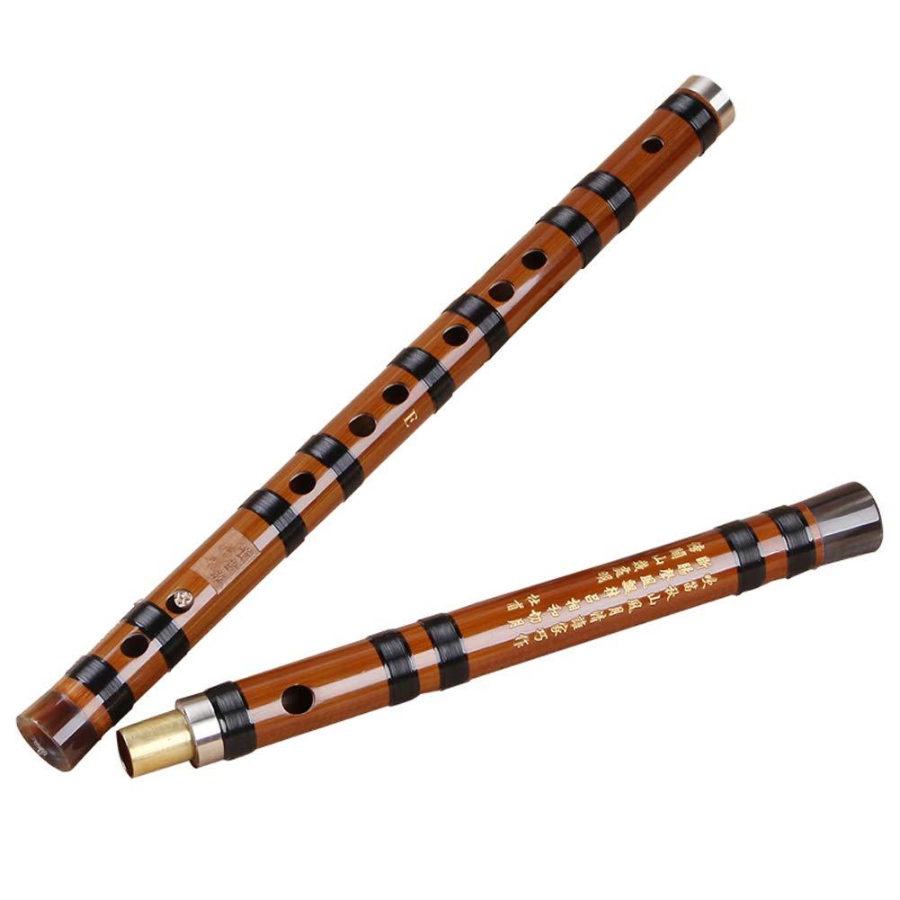 プロフェッショナルなバンブーフルート中国の伝統楽器6歳の竹の竹精密サウンドハンドメイドのパフォーマンス Dizi (色 : F KEY) B07JDLVT22 C KEY  C KEY