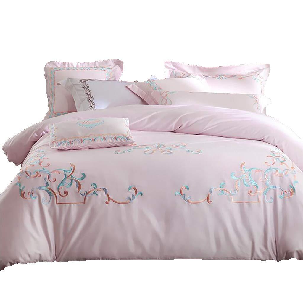 寝具カバーセット 4/6個セットベッドのベッドシーツカバー枕カバークッションカバー布団カバーギフトベッドセット寝具ホテルファミリー暖かく保つ (色 : 6 piece set, サイズ さいず : 2M/2.2M bed) B07NYD646R 6 piece set 2M/2.2M bed