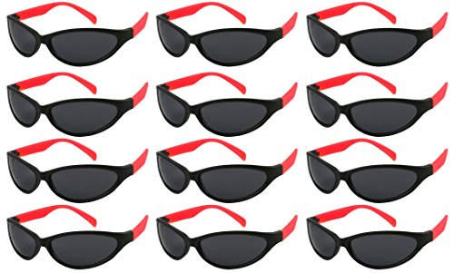 Edge I-Wear 12 Pack 80's Style Adult Neon Party Sunglasses Bridal Wedding Sport Party Favors -
