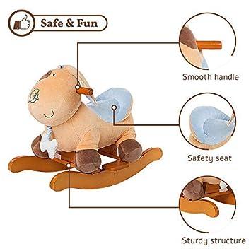 Stuffed Animal Rocker Toy Free gift - only top 9 Wooden Rocking Horse//Plush Rocking Toy//Rocking Horse Girl//Boy Rocker Labebe Child Rocking Horse Toy Blue Squirrel Plush Rocker Toy for Kid 1-3 Years