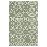 "Kaleen Rugs REV02-88-9613 Revolution Hand-Tufted Area Rug, Mint/Cream, 9' 6"" X 13'"