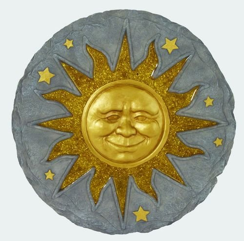 Garden, Bereavement Stepping Stones, Wall Plaque (Sun Face Bronze Sunface) (Face Sun Bronze)