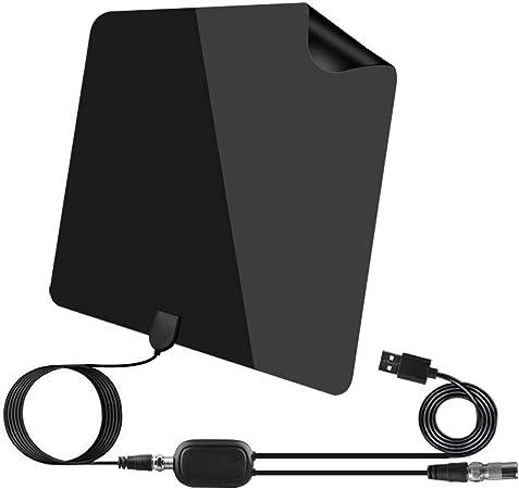 Antena de TV, Antena para Interiores HD 1080P HDTV, Antena ...