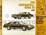 1986 Lincoln Continental & Mark VII Electrical Troubleshooting Manual