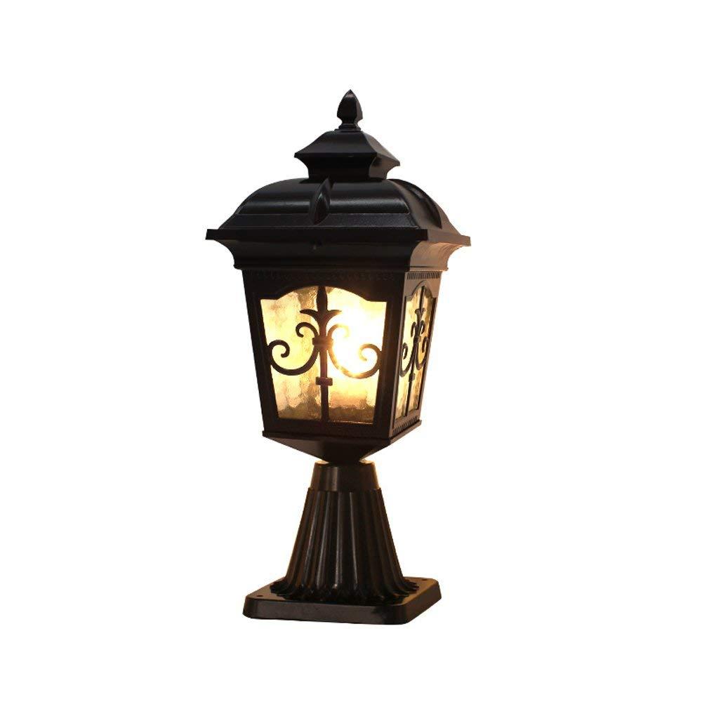 Qian Fei Outdoor Garden E27 Post Lantern Pathway Recinzione Illuminazione di Lusso Coloniale Outdoor Post Light Esterno Lanterna pilastro all'aperto
