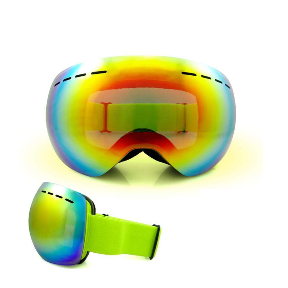 He-yanjing Anti-Fog Jet Snow Skiing Skis Goggles ,Sports Smart Glasses ,Single and Double Board ski Glasses for Men and Women Outdoor Windshield (Color : Green) by He-yanjing