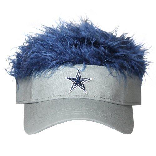 NFL Dallas Cowboys Flair Hair Adjustable Visor, Grey