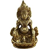 Elite Unique Brass Statue / Idol of Kubera Maharaj for Success and Wealth Idol/Showpiece/Decorative Brass Item/Home Décor/Office Decorative Items (LXBXH- 2.5X1.5X4.5 INCHES , WEIGHT 222 GMS ) By Crafthut