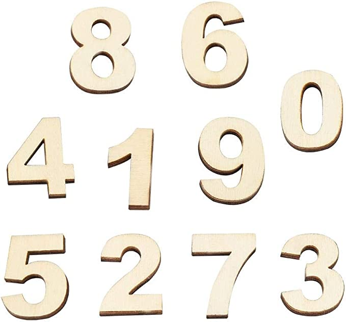 2cm Adhesive Letters /& Digits Craft Alphabet Decoration NF27 Wooden Small 250