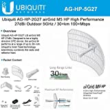 Antenna High-Performance airGrid M5 27dBi 5GHz AirMax Integrated InnerFeed 100+ Mbps 30+ km