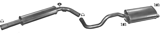 SEAT IBIZA HATCHBACK 1.2 64HP 2002-2004 Silencer Exhaust System+
