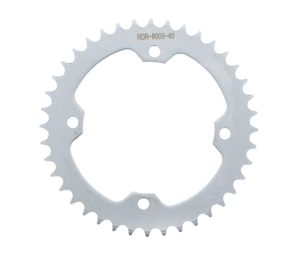 Red Non O-Ring Chain /& Silver Sprocket 12//40 100L 04-2008 fits Yamaha YFZ450 YFZ 450