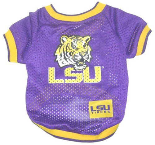 Louisiana State University Jersey - Pets First NCAA Dog Jersey, Large, Louisiana State University Tigers