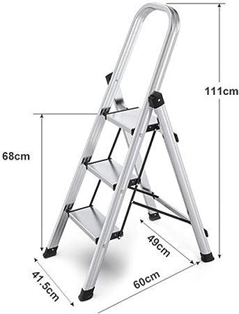 3 Escalera plegable antideslizante Escalera Multifuncional Kit portátil plegable cubierta Escalera de Aluminio Capacidad de carga 150kg, conveniente for el hogar Cocina Jardín Herramientas de bricolaj: Amazon.es: Hogar