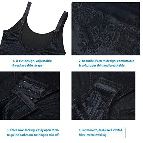 per MISS vita la Donna Black MOLY Shaper Intimo modellabile Body Tuta Shapewear modellante qrz1wPq