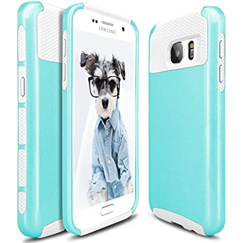 S7 Case, Galaxy S7 Case, Hinpia Hybrid Slim Dual Layer Protective Case Anti Scratches Shockproof Hard Cover for Samsung Galaxy S7 (2016 Release) - Mint/White Sales